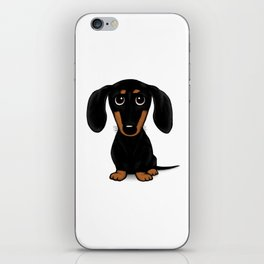 Black and Tan Shorthaired Dachshund iPhone Skin