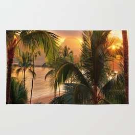 Kauai Tropical Island by OLena Art Rug