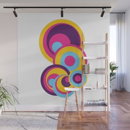 Retro Circles Groovy Colors Wall Mural