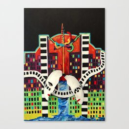The Cry of the City Canvas Print