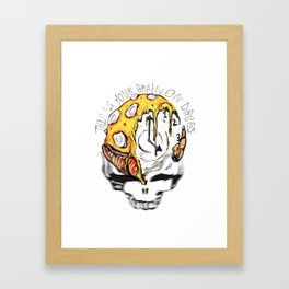 Your Brain x Drugs Framed Art Print