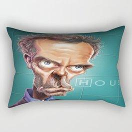 Caricature Dr House Rectangular Pillow