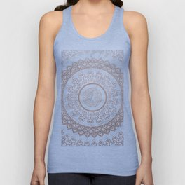 Mandala - rose gold and white marble Unisex Tank Top
