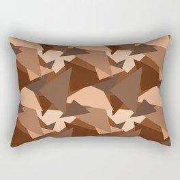Chocolate Caramels Triangles Rectangular Pillow