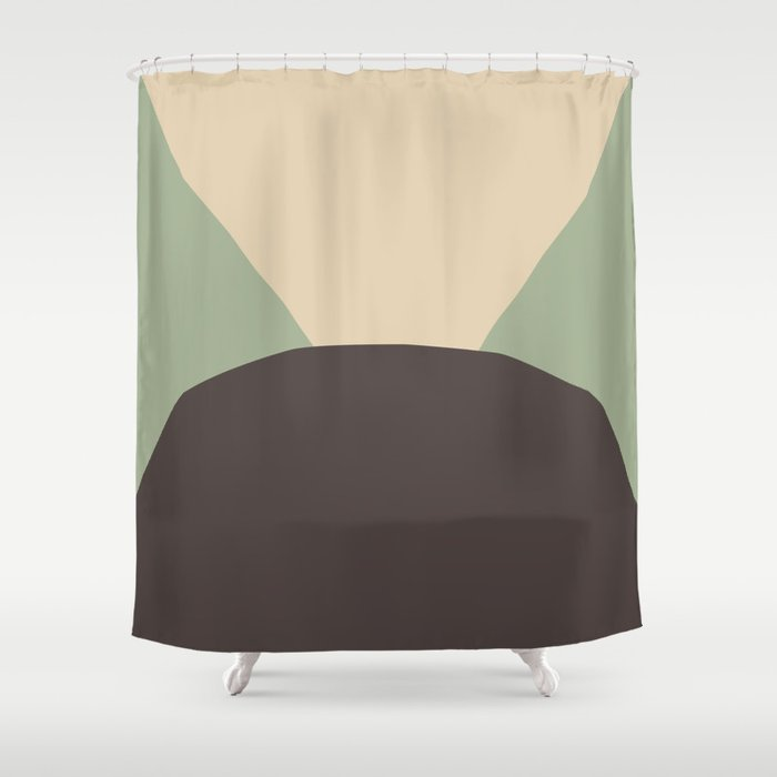 Deyoung Chocomint Shower Curtain