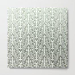 Art Deco Pattern Mint Green Metal Print