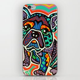 Eddie Designer Dog Puppy Pet Series Colorful Bright French Bulldog Pug Terrier Non Sporting Breeds iPhone Skin