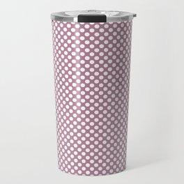 Rosebud and White Polka Dots Travel Mug