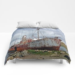 Whaling Ship with Gun Comforters