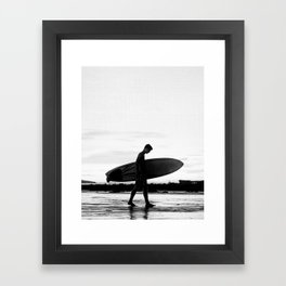 Surf Boy Framed Art Print