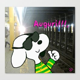 """Italian Snoopy at 23 street"" Canvas Print"