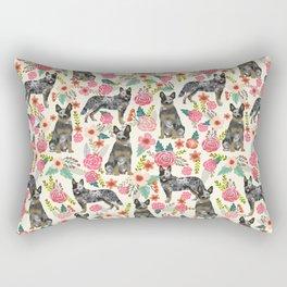 Australian cattle dog floral dog breed cream pet pattern custom gifts for dog lovers Rectangular Pillow