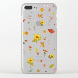 signs of fall with black background Clear iPhone Case
