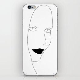 The face - Minimalist Line Art iPhone Skin