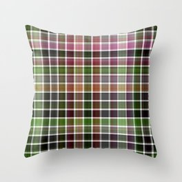 Pink Roses in Anzures 5  Plaid 2 Throw Pillow