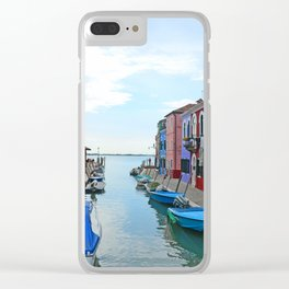 Lace Island - end of the street Clear iPhone Case