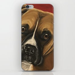 Boxer art from original Boxer Dog Painting iPhone Skin