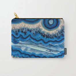 Blue wave Agate Carry-All Pouch