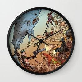 LOVE ME LIKE A PSYCHO ROBOT - USING A HUGE SHARK Wall Clock