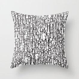 Chess Pattern II WHITE Throw Pillow