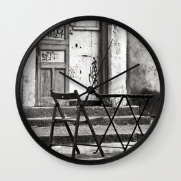 Just Two Chairs - Catania - Sicily - Italy  Wall Clock