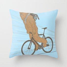 Chewbika Throw Pillow