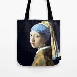 Johannes Vermeer Girl with a Pearl Earring Tote Bag