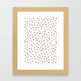 Goldie Dots Framed Art Print