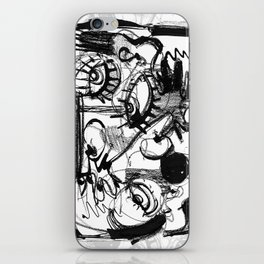 Chit-Chat - b&w iPhone Skin