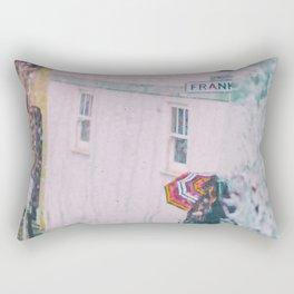 Psychedelic Rains Rectangular Pillow