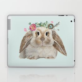 Spring Bunny with Floral Crown Laptop & iPad Skin