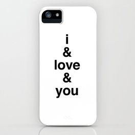 i & love & you Avett Brothers iPhone Case