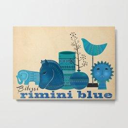 Bitossi Rimini Blue Metal Print