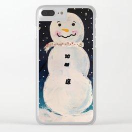 Little Snowman Clear iPhone Case
