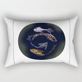 YIN AND YANG- BLACK Rectangular Pillow