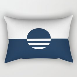 Milwaukee Wisconsin - Navy - People's Flag of Milwaukee Rectangular Pillow
