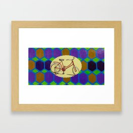 Hexagon Bike Framed Art Print