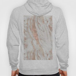 Rose Gold and White Marble 1 Hoody