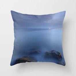 """""""Blue sea"""". Blue hour. Throw Pillow"""