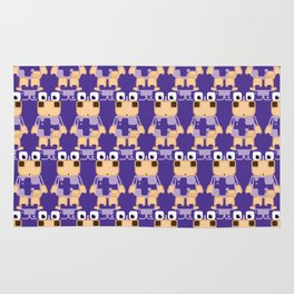 Super cute cartoon cow in purple - a moo-st have design for cow enthusiasts! Rug