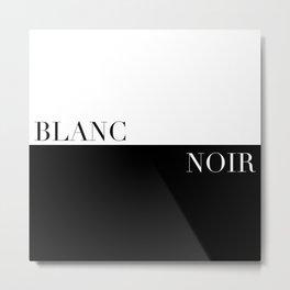 Black/White Metal Print