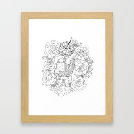 Thorns and Roses Framed Art Print