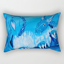 Ice Cavern Dragon Rectangular Pillow