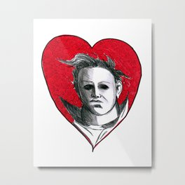 Micheal Myers (All Heart) Metal Print