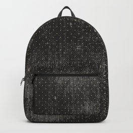 Vintage geometrical black brown polka dots pattern Backpack