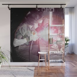 Vintage Female Welder Wall Mural