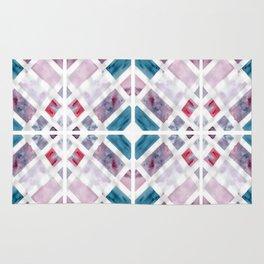 Geometric Jewel Watercolour Rug