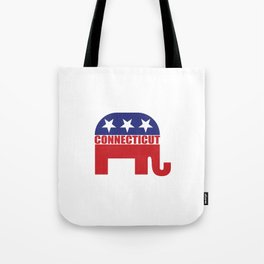 Connecticut Republican Elephant Tote Bag