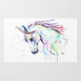 Colorful Unicorn Watercolor Painting - Kenzie's Unicorn Rug