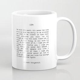 Life quote F. Scott Fitzgerald Coffee Mug
